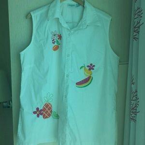 Carolina Colours Plus Sleeveless Shirt